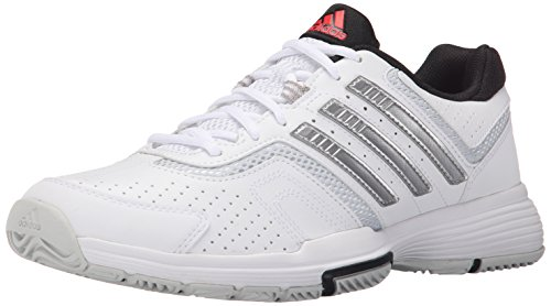 Barricade 2 Tennis Shoe - Adidas Performance Women's Barricade Court 2 W Training Footwear,White/Metallic Silver/Black,8.5 M US