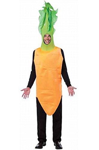 Rasta Imposta Men's Carrot-Top, Orange/Green, One (Carrot Adult Costumes)