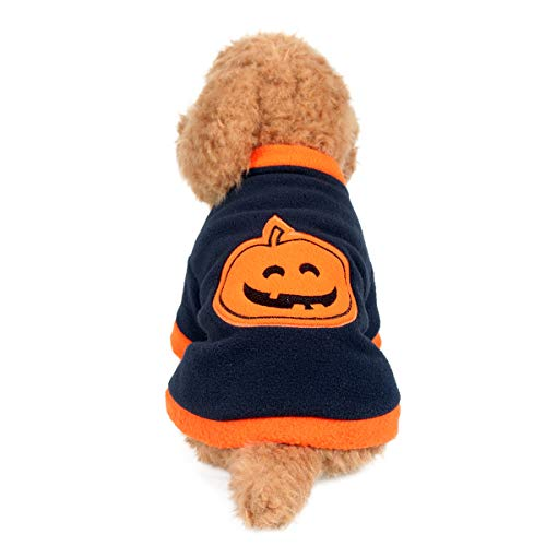 Yunison Dog Cat Pumpkin Costume for Halloween T-Shirts Pet Clothes Puppy Outfits L]()