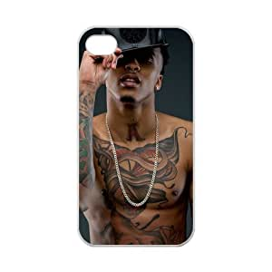 BANGBANGDA iPhone 4,4S Cool August Alsina Tattoo Design Case for iPhone 4,4S 100% pc hard (Laser Technology)