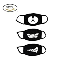 Mouth Face Mask,3 pcs Exo Mask Cotton Unisex Blend Anti Dust Face Mouth Mask Kpop Mask Flu Germs Filters for Men and Women