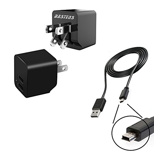 18c Cables (2in1 dual mini wall outlet charger with double USB power ports & sized pocket for travel 2.4 Amp 12W with USB charge cable designed for the Archos 15b 18b 18c Vision)
