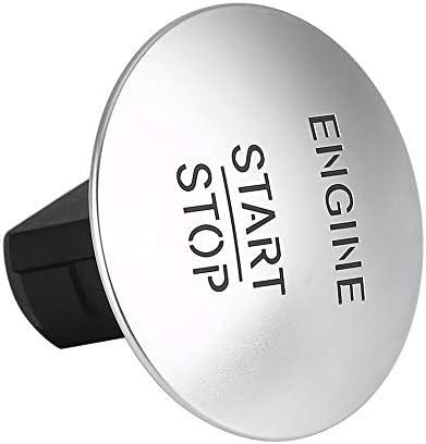 Kste Motor Startknopf Keyless Motor Startknopf Safe Lock Zündschloss Kunststoff Und Aluminium Material Start Stop Motor Taste For Mercedes 2215450714 Silber Auto