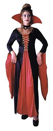 Super Deluxe Cleopatra Costumes (FunWorld Victorian Vampiress, Black, 10-14 Medium/Large Costume)