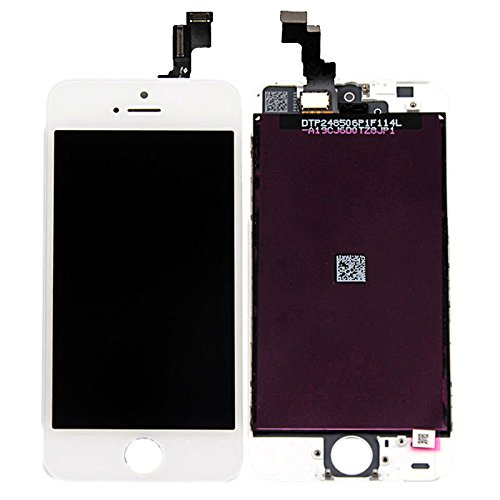(BlastCase White Retina LCD Touch Screen Digitizer Glass Replacement Full Assembly for iPhone 5S)