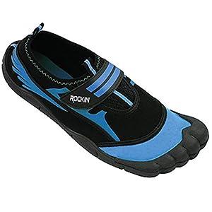 Rockin Footwear Mens Aqua Foot Water Shoes (11, Neon Green)