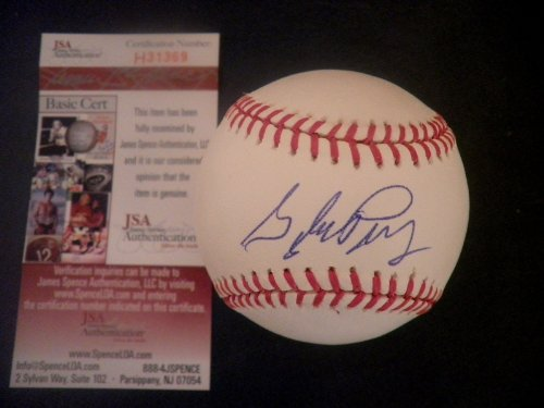 GAYLORD PERRY Signed OML Baseball JSA HOF Giants Indians Rangers Autographed Ball Gaylord Perry Autographed Baseball