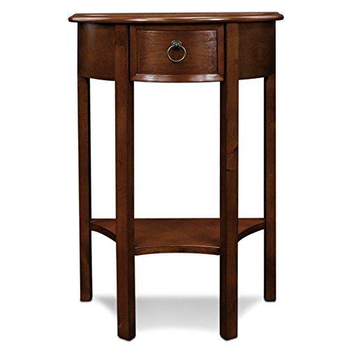 Leick Demilune Hall Stand (Oak Mission Cherry Table)
