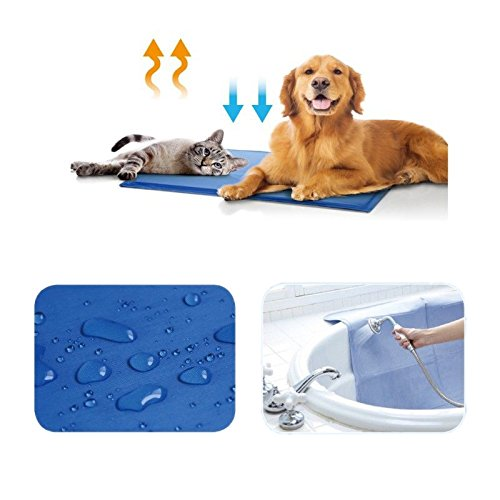 Dog Cat Pet Cooling Pad Gel Cool Beds Kennel Cushion Summer Mat for Home Travel Durable