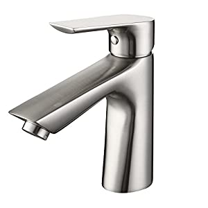 SonTiy Lead Free Bathroom Faucet Single Hole Best Modern Solid Brass - Best buy bathroom faucets