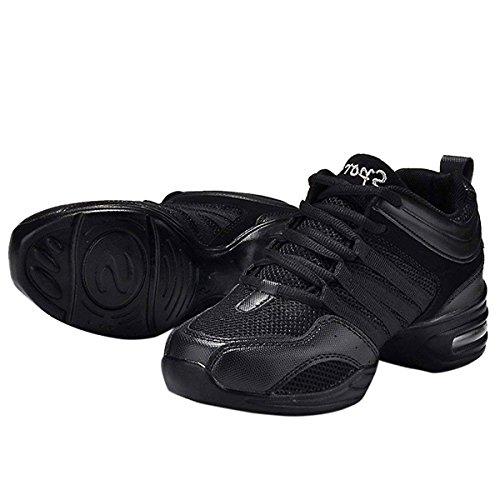 Aptitud para Negro Deportivos Zapatillas Danza de Baile de Zapatos Movimiento A la Blanda Mujeres de Zapatos Elegante Suela CHNHIRA Jazz Moderna nwwYTgxqH