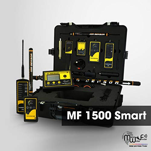 MWF MF 1500 Smart Long Range Metal Detector - Professional Deep Seeking Detector with 4 Search Systems - Underground Depth Scanner and Treasure Finder - Discover Gold, Silver, Coins, and Treasure