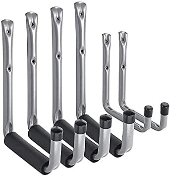 Fahrr/äder Black 3-H Wandhaken Garage Haken Garage Storage Doppelhaken Wandhaken 14 St/ück Multi Gr/ö/ße Heavy Duty f/ür Home Chair Ladder Klappst/ühle Organisation von Power Tools Massen Artikel