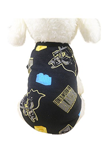 Chicpaw Cartoon Dog Vest Small Pet Multi-Color Style Clothes Optional Puppy Cat Shirt Pet Coat Apparel Costume 13 Color XS-XXL (S(Length:9.8