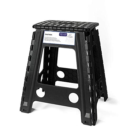 Acko Black 18 Inches Non Slip Folding Step Stool for Kids and Adults with ()
