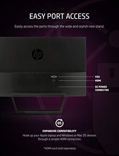 HP Pavilion 22cwa 21.5-Inch Full HD 1080p IPS LED Monitor, Tilt, VGA and HDMI (T4Q59AA) - Black