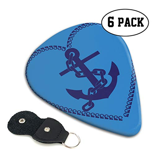 Heart Shape Clipart - FJSLIE Clipart Nautical Heart Guitar Picks Unique 351 Shape Celluloid Guitar Plectrums,6 Packs in Holder Case for Guitar Bass