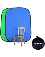 """Phot-R 5in1 Studio Light Reflector 150x200cm, 59""""x79"""" Collapsible Portable Studio Diffuser in Black, Silver, White, Gold & Translucent + Carry Case, Photography 1.5x2m Reflector Kit for Photoshoots"""