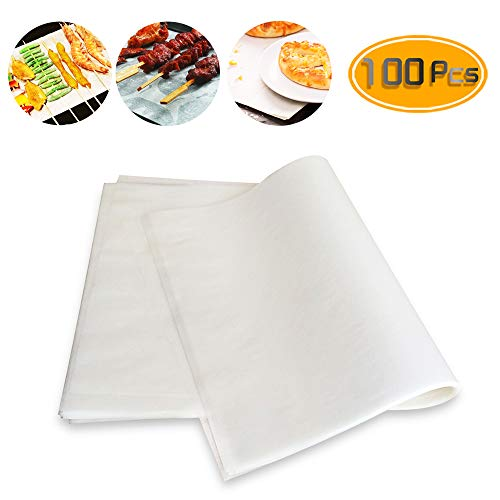 Weoxpr 100 PCS Precut Parchment Paper Cookie Baking Sheets - 12 x 16 Inches - Perfect for High Temperature Baking(White)