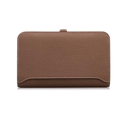 Genuine Leather Purse Camel Anifeel Passport Wallets Case Trifold Billfold Women's Ra7xqFB