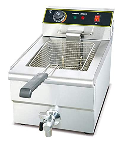 Bhavya enterprises 18/10 Steel Commercial Deep Fat Fryer, 6+6 L, Silver