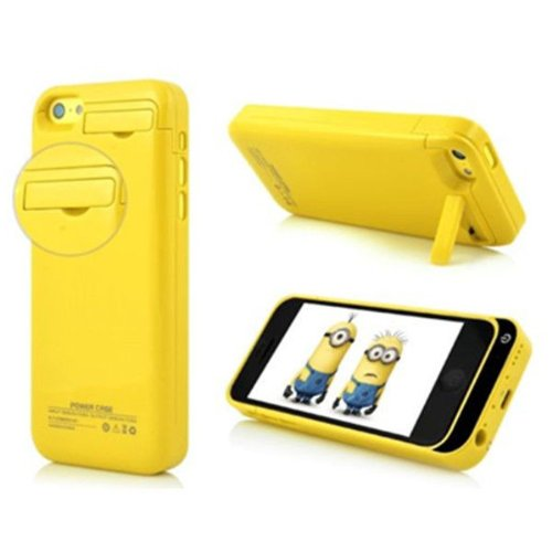 G4GADGET® 2200mah Power External Battery Yellow Case for Iphone 5/5S/5C
