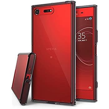 Sony Xperia XZ Premium Case, Ringke [FUSION] Crystal Clear PC Back TPU Bumper [Drop Protection/Shock Absorption Technology] Raised Bezels Protective Cover - Smoke Black