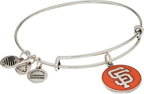 Alex and Ani San Francisco Giants Cap Logo Orange Expandable Rafaelian Silver Bangle Bracelet