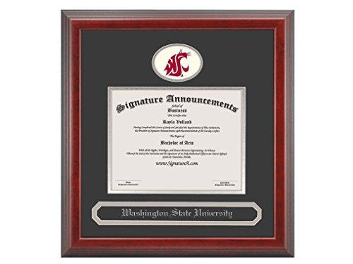 Signature Announcements Washington-State-University Undergraduate, Sculpted Foil Seal & Name Graduation Diploma Frame, 20