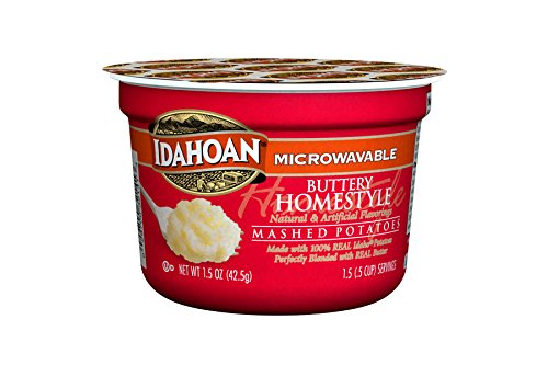 Idahoan Buttery Homestyle Mashed Potatoes, Made with Gluten-Free 100% Real Idaho Potatoes, 1.5 ounces (Pack of 10)