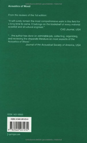 Acoustics of Wood (Springer Series in Wood Science) by Voichita Bucur