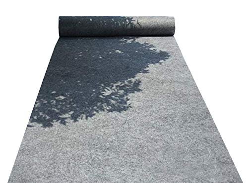 HUAHOO Aisle Runners Wedding Accessories Gray Aisle Runner Carpet Rugs for Step and Repeat Display, Ceremony Parties and Events Indoor or Outdoor Decoration 24 Inch Wide x 15 feet Long