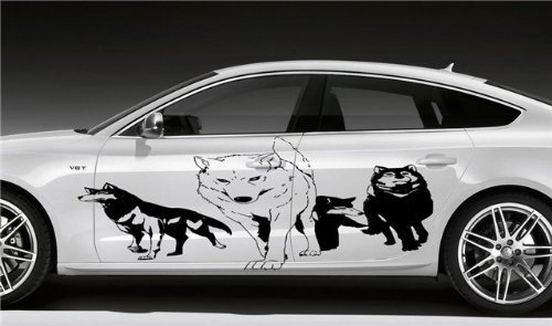 (Car Vinyl Sticker Graphics Wolf Pack D1789)