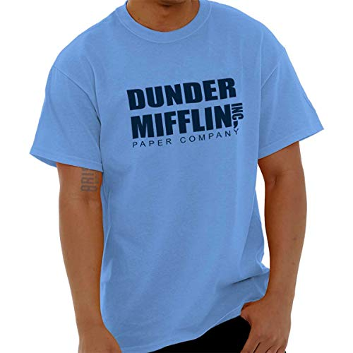 Brisco Brands Dunder Paper Company Mifflin Office TV Show T Shirt Tee Carolina Blue