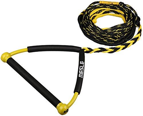 MESLE Wakeboardleine Rider 63' 2-Loop yel, 19,2 m, 2 Verkürzungen, 15'' Hantel