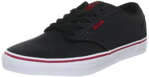 Vans Men's Atwood Skateboarding Shoe (Textile) Black/Chili (6.5)