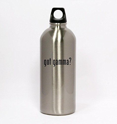 got gamma? - Silver Water Bottle Small Mouth 20oz - Gamma Travel Mug