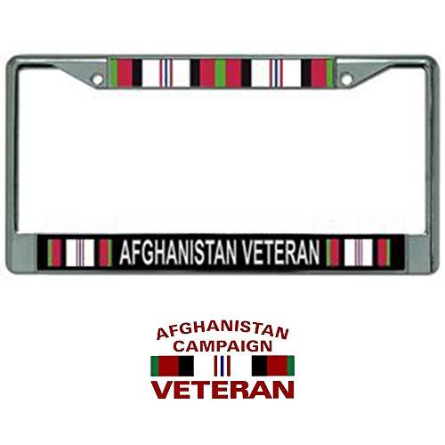 Butler Online Stores Afghanistan Veteran License Plate Frame Military Gift Bundle with Afghanistan Veteran Decal