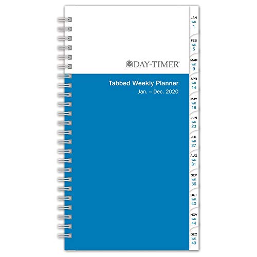 "Day-Timer 2020 Weekly Planner Refill, 3-3/4"" x 6-3/4"", Pocket Size 2, Wirebound, Two Pages Per Week, Simply Stated (12068)"