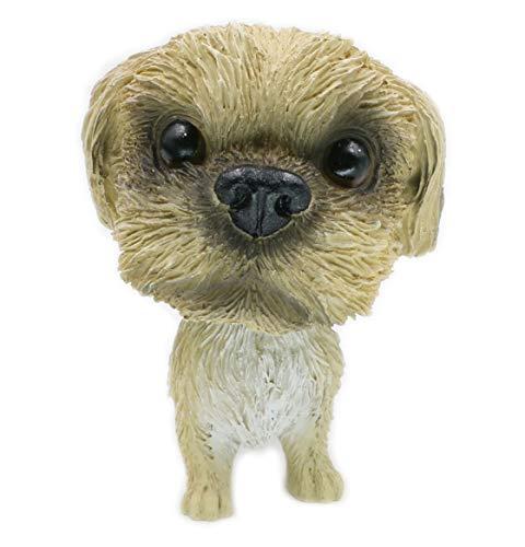 (OZUKO Bobble Head Shih Tzu Dog Ornament Figurine for Car Dashboard Home Decoration Gift)