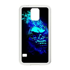 VOV Black Blue Skull Custom Protective Hard Phone Cae For Samsung Galaxy S5