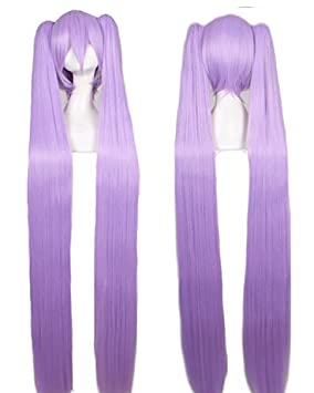 Fashion wigstyle 120 cm Miku Cosplay peluca lolita violeta ...