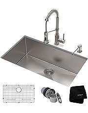 Kraus 30-inch Standart PRO Single Bowl Kitchen Sink