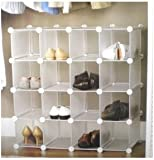 INTERLOCKING SHOE ORGANIZER SHOE STORAGE RACK for 16 PAIRS