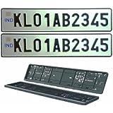 Motoway Car Number Plate Designer Frame _ Show _ Cover Set Of 2 For Maruti Suzuki Swift Dzire