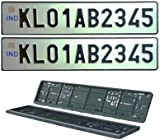 Motoway Car Number Plate Designer Frame _ Show _ Cover Set Of 2 For Maruti Suzuki  sc 1 st  Amazon.in & Autofurnish High Security Car Number Plate Frame Folding for Car ...