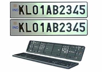 Benjoy Car Number Plate Designer Frame Show Cover Set Of 2 For Volkswagen Vento