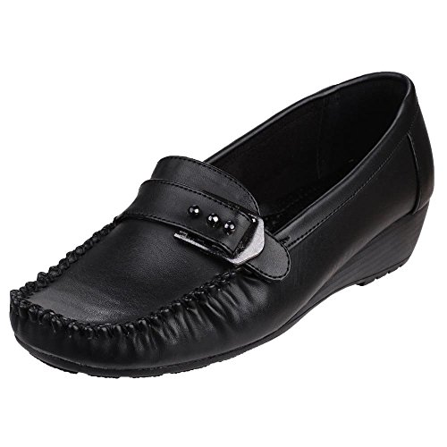 Amblers Damen Hula Damenschuhe Schwarz Black