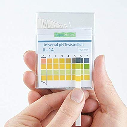 Aquanatura Universal Tiras Reactivas de Ph 0-14 para Agua Orina Saliva Jab/ón Plus Muchos Otros Usos