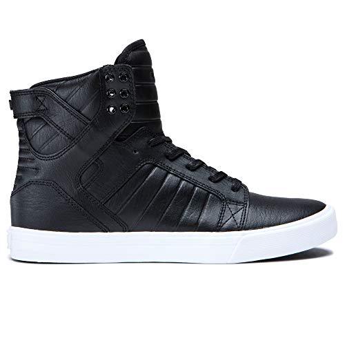 Supra Skytop Skate Shoe, Black/White, 12 Regular US (Best High Top Shoes 2019)